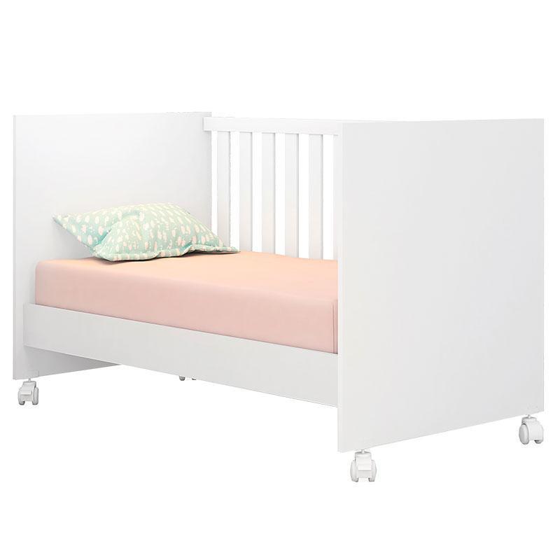 Quarto De Bebê Com Nicho E Módulo Doce Sonho Branco Brilho