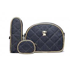 Kit Viagem Jeans Dourado Kaj9046 Classic For Baby