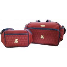 Kit Bolsa Maternidade Honey Baby 42456 Ouro Urso Vermelho