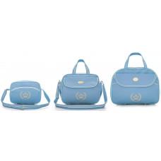 Kit Bolsa Maternidade Honey Baby 111213 Esmeralda Azul
