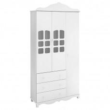 1Guarda Roupa infantil Imperial 3 Portas Branco Brilho - Can