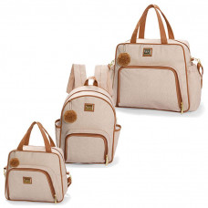 bolsa-maternidade-kit-3-peças-barcelona-bege-hug