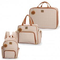 bolsa-maternidade-kit-3-peças-com-mochila-barcelona-bege-hug