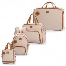 bolsa-maternidade-kit-4-peças-com-mochila-barcelona-bege-hug