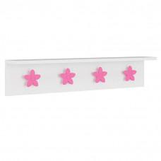 Cabideiro Infantil Estrela Branco Pink 9A - Pura Magia