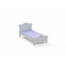 Cama Laura Branco Acetinado - Carolina Móveis