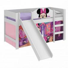 Cama Infantil Minnie Disney Play com Escorregador - Pura Mag