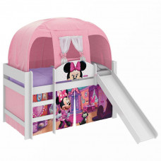 Cama Infantil Minnie Disney Play com Escorregador e Barraca