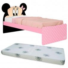 Cama Infantil Minnie Plus 8A com Colchão - Pura Magia