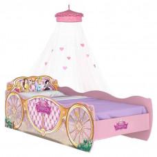 cama infantil princesas disney star com dossel de teto rosa