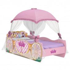 cama infantil princesas disney star com dossel rosa pura mag