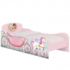 Cama Infantil Princesas na Floresta Branco Rosa Acetinado –