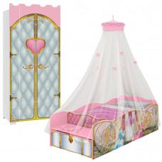 Cama-Princesas-com-Guarda-Roupa-Castelo-Premium-com-Dossel-P