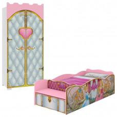 Cama-Princesas-com-Guarda-Roupa-Castelo-Premium-Pura-Magia