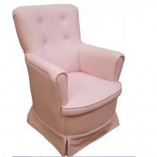 Poltrona Canaã Baby Aconchego Fixa Rosa