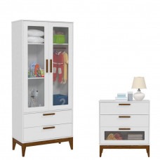 guarda roupa e comoda nature glass matic branco eco wood