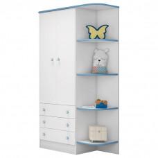 Guarda roupa Infantil Doce Sonho Branco Azul Qmovi