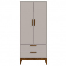 Guarda Roupa Infantil Nature 2 Portas Cinza Eco Wood - Matic