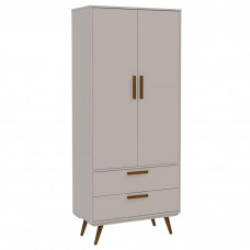 Guarda Roupa Infantil Retro 2 Portas Cinza Eco Wood – Matic
