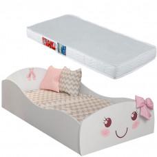 Mini Cama Infantil Lacinho 9A com Colchão Ortobom 150x70 cm