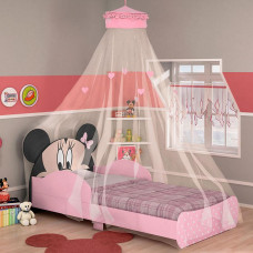 Mini Cama Infantil Minnie Disney 7A com Dossel - Pura Magia