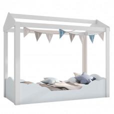 Mini cama Montessoriana Colore Branco Azul 9A - Pura Magia