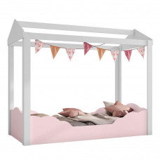 Mini cama Montessoriana Colore Branco Rosa 9A - Pura Magia