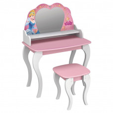 penteadeira infantil princesas disney star rosa pura magia