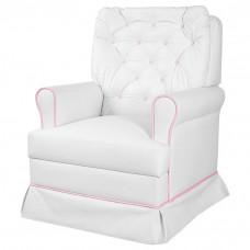 Poltrona de Amamentação Encanto Fixa Branco Rosa
