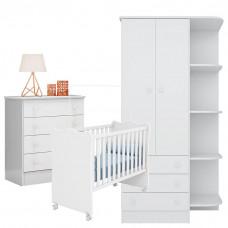 Quarto de Bebê 2 Doce Sonho Branco – Qmovi