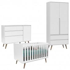 Quarto De Bebê 2 Portas Comoda Infantil 1 Porta Retro Clean