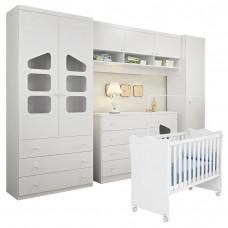 Quarto de Bebê Completo Eloisa com Berço Doce Sonho Branco B