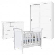 Quarto de Bebê Fratelli Plus 2 Portas Deslizantes Branco
