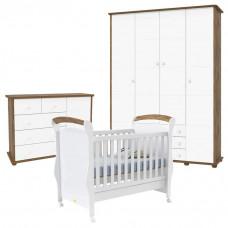 Quarto de Bebê Fratelli Plus 4 Portas Branco Acetinado Teka