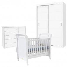 Quarto de Bebê Fratelli Slim 2 Portas Deslizantes Branco
