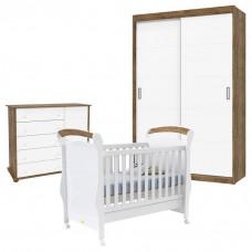 Quarto de Bebê Fratelli Slim 2 Portas Deslizantes Branco Ace