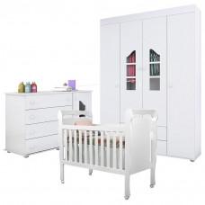 Quarto de bebê Isabele com Berço Nanda Branco Brilho