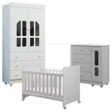 Quarto de Bebê Katatau 2 Portas Branco Brilho
