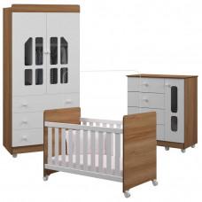 Quarto de Bebê Katatau 2 Portas Branco Brilho Mezzo Castani