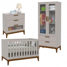 quarto de bebe nature glass cinza eco wood matic