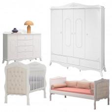 Quarto de Bebê Realeza 4 Portas e Cama Infantil