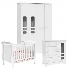 Quarto de bebê Smart Branco Acetinado Soft Matic