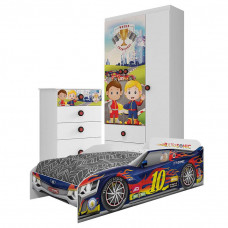 Quarto Infantil Super Power com Cama Ultrasonic Car - Móveis