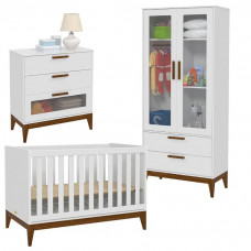 quato de bebe 2 portas nature glass branco eco wood matic