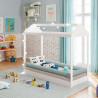 Mini cama Montessoriana Branco Ambiente Pura Magia